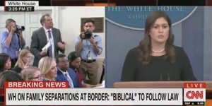 Huckabee Sanders press meeting